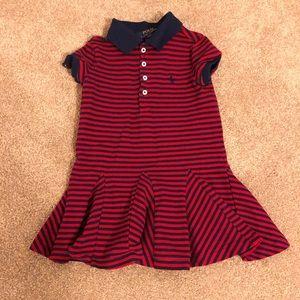 Ralph Lauren polo dress 3t EUC cotton